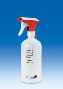 Spray bottle with imprint 'Ethanol'